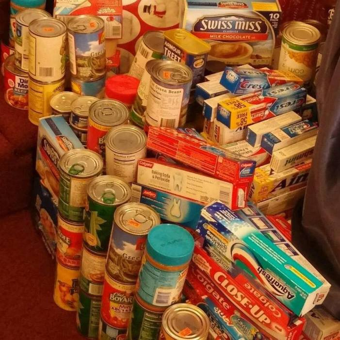 Collection for local food pantry
